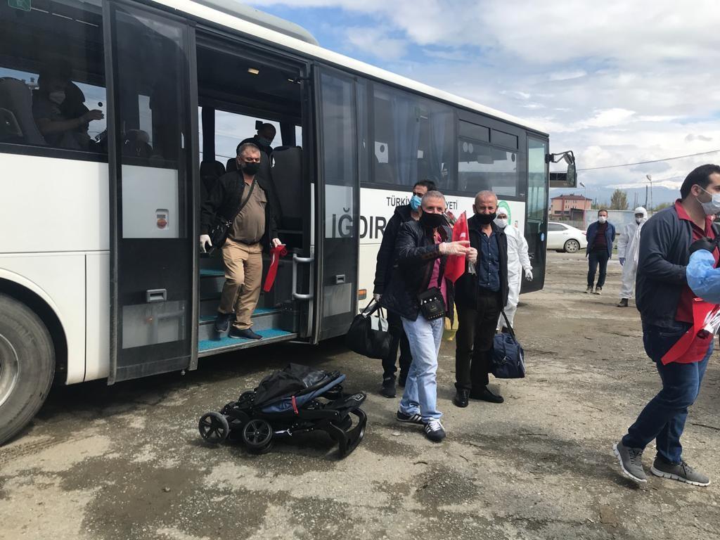 Yurt dışından gelenler Iğdır'da yurda yerleştirildi