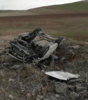 Horasan'da trafik kazası: 2 yaralı