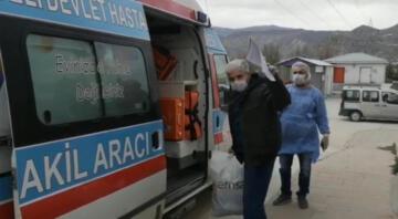 Tunceli'de korona tedavisi gören dede ve torunu taburcu edildi