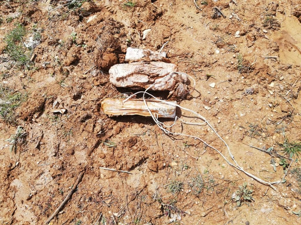 Bitlis'te toprağa gömülü 15 kilo EYP ele geçirildi