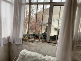 Ağrı'da bir evin çatısına yıldırım düştü