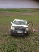 Araç takla attı, sürücüsü yaralandı