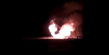 Ağrı Doğubeyazıt'ta Türkiye-İran doğal gaz boru hattında patlama