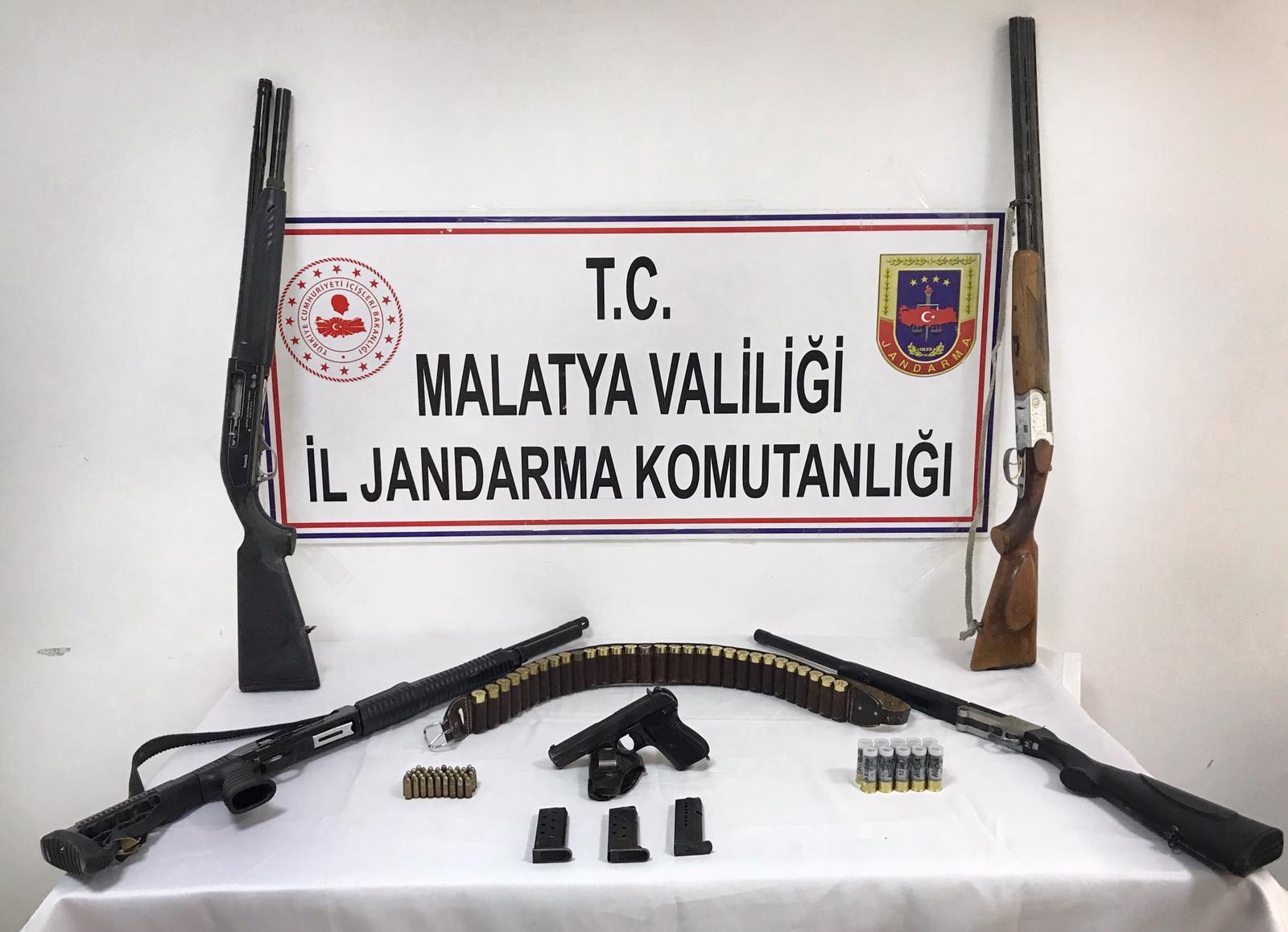Malatya'da silah operasyonu