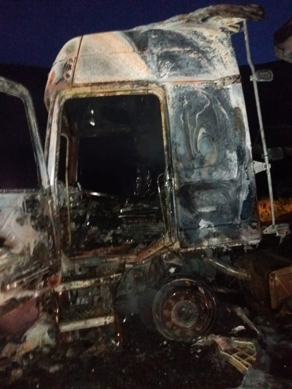 Erzincan'da tır yangını: 1 yaralı
