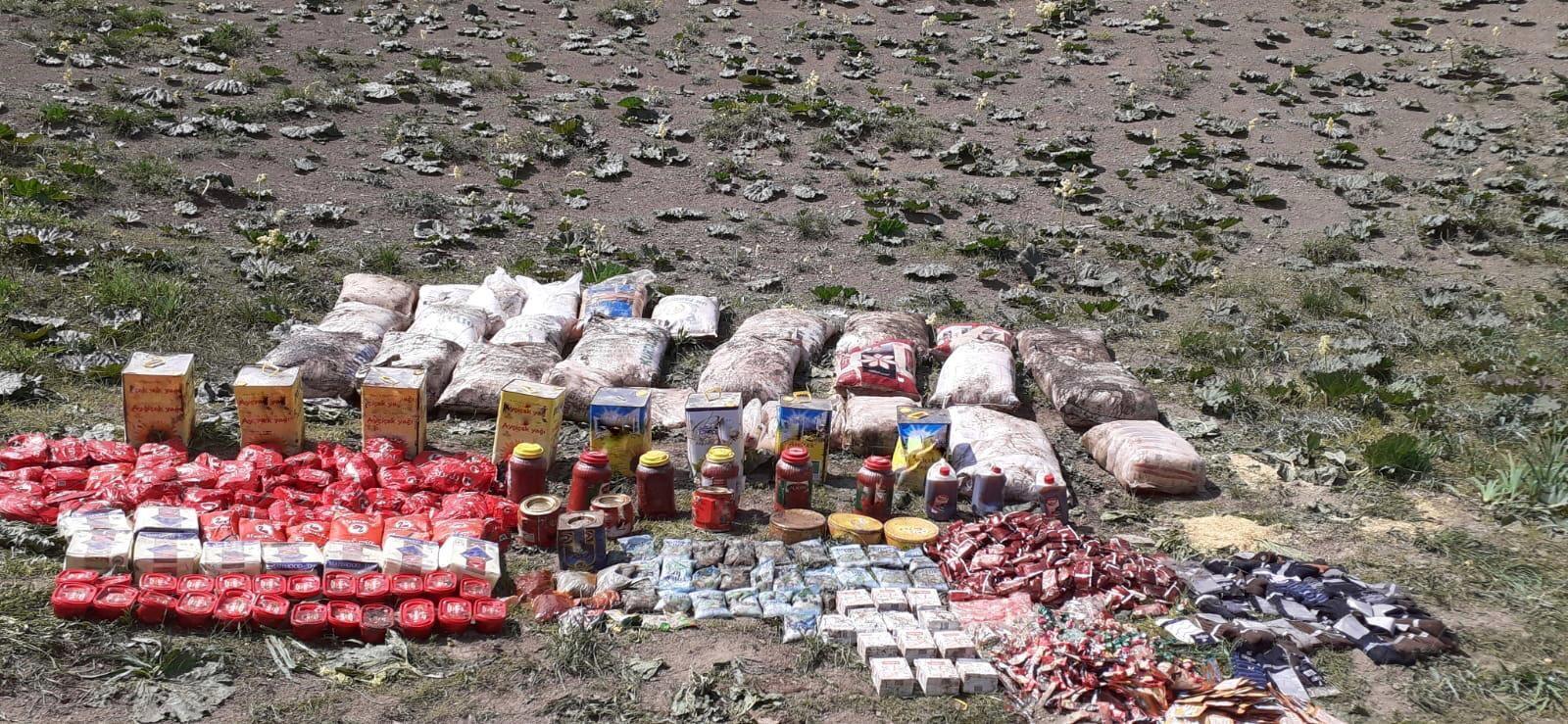 Van'da PKK/KCK terör örgütü operasyonunda 5,5 ton tahıl ve kuru bakliyat ele geçirildi