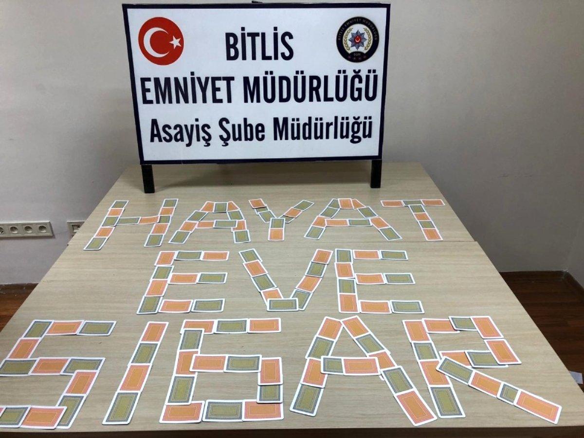 Bitlis te 6 kişiye kumar ve sosyal mesafeye uymamaktan 26 bin TL ceza