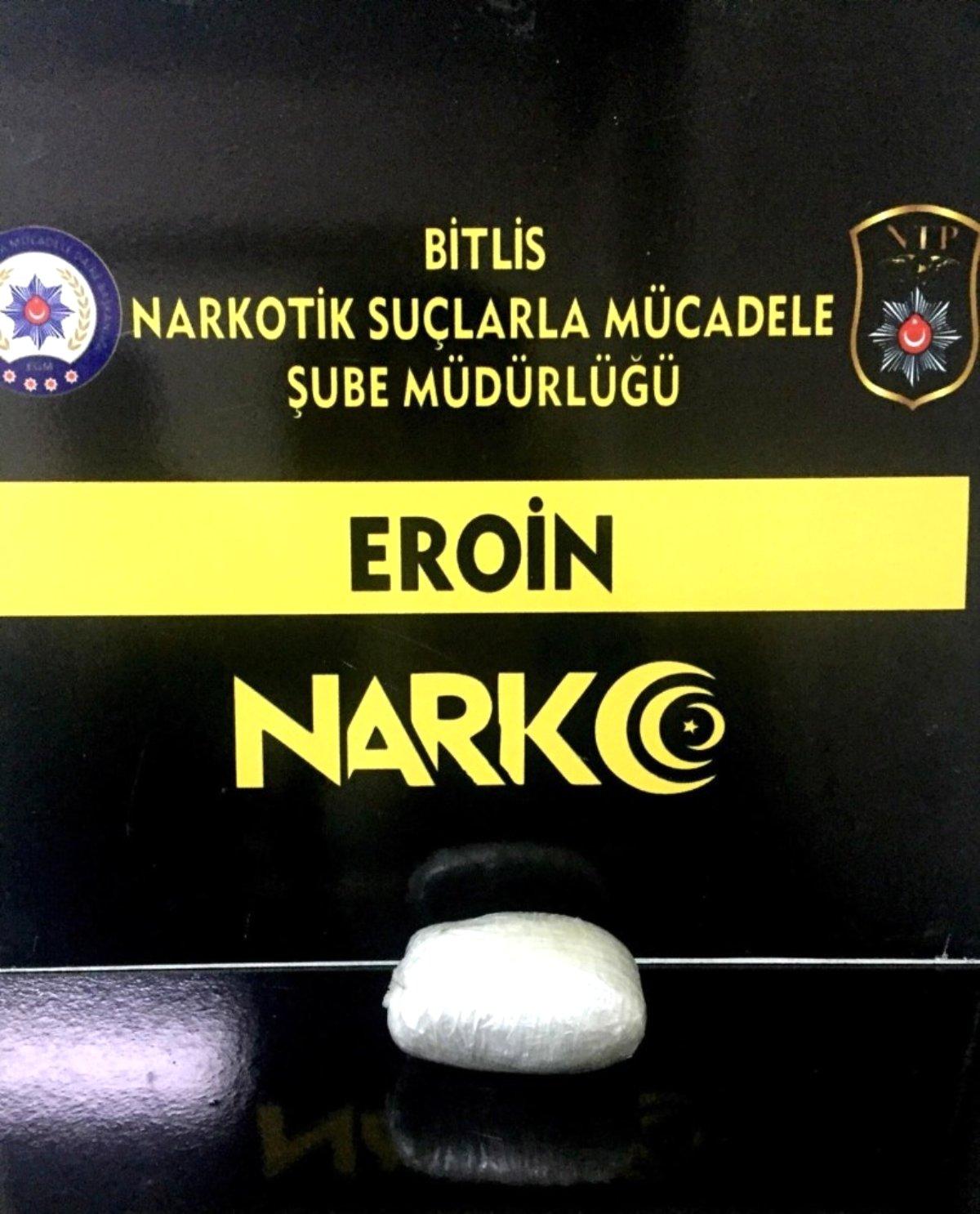 Bitlis te metanfetamin ve eroin ele geçirildi