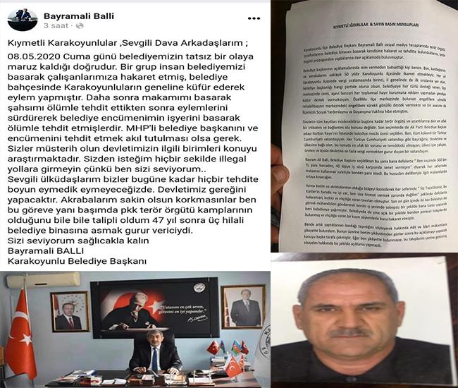 Iğdır Mhp Karakoyunlu Belediye Başkanı ile Ak parti Karakoyunlu belediye meclis üyesi arasında terör ve rüşvet restleşmesi