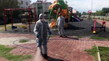 Iğdır da Park ve Bahçeler dezenfekte ediliyor