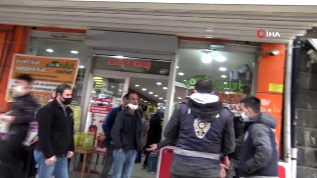 Kars ta esnaf ile polis arasında kapalı yol gerginliği