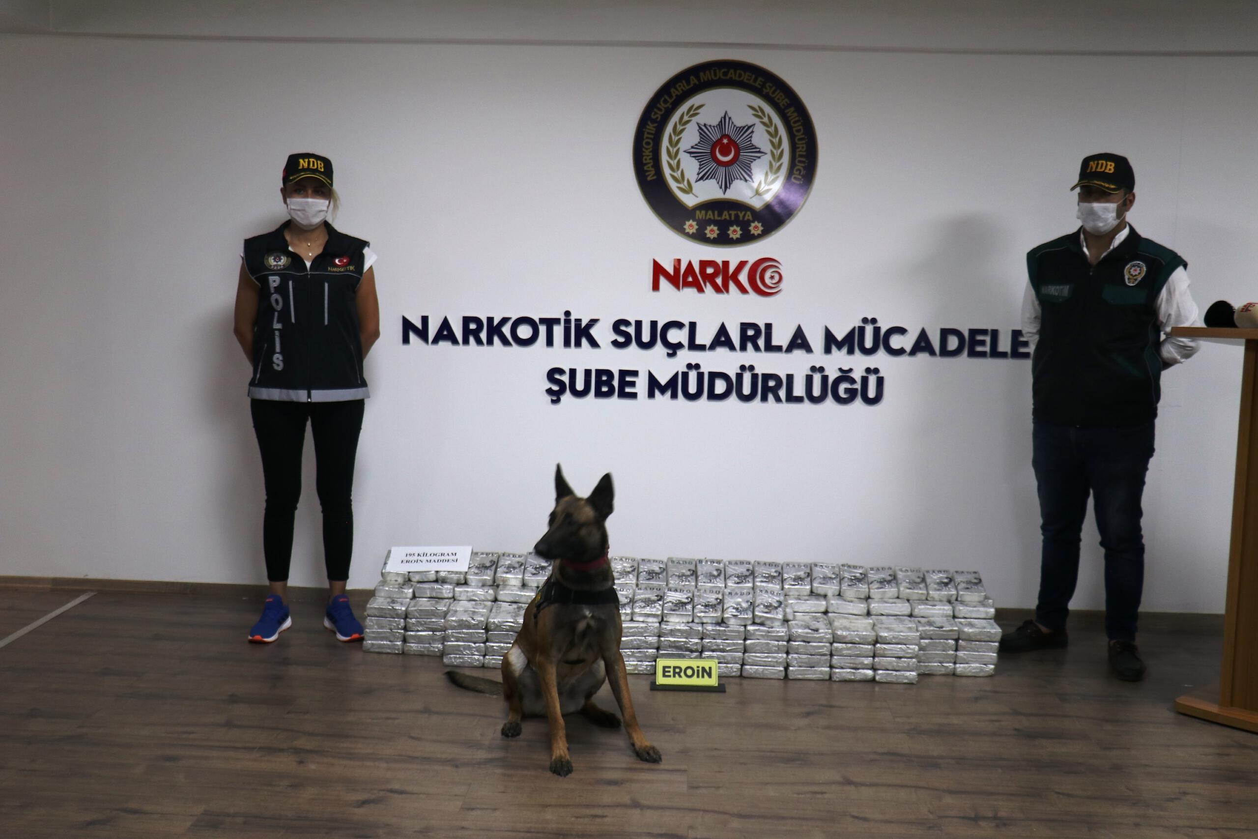 Malatya'da 195 kilo eroin ele geçirildi