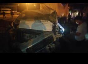 Iğdır da filyasyon ekibinin taşındığı minibüs kaza yaptı: 3 yaralı