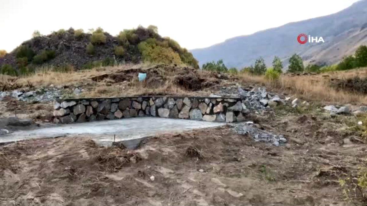 Valiliğin durdurduğu Nemrut Krater gölündeki inşaat yeniden başladı
