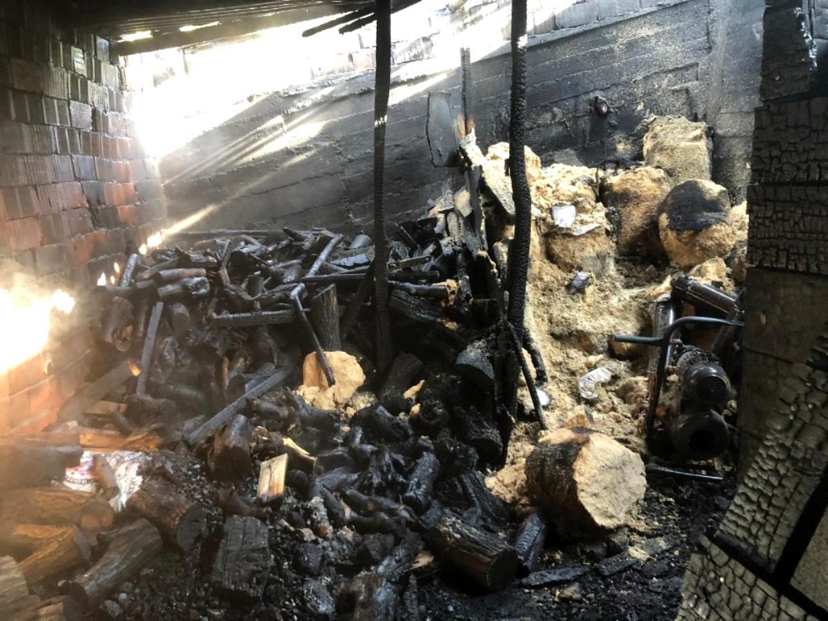 Bingöl de odunluk yangını