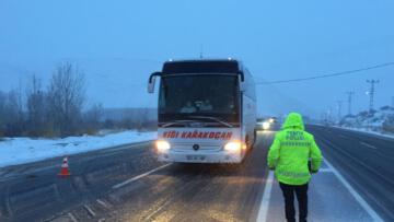 Malatya-Kayseri karayolu tırların geçişine kapatıldı