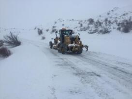 Iğdır'da kar ve tipi 52 köy yolunu ulaşıma kapattı
