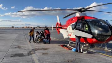 Helikopter ambulans 61 yaşındaki hasta için havalandı