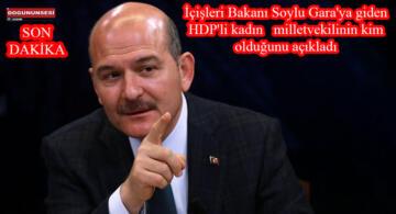 İçişleri Bakanı Soylu Gara'ya giden HDP'li kadın milletvekilinin kim olduğunu açıkladı
