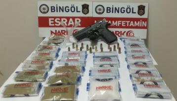 Bingöl'de baskınla yakalanan uyuşturucu taciri tutuklandı