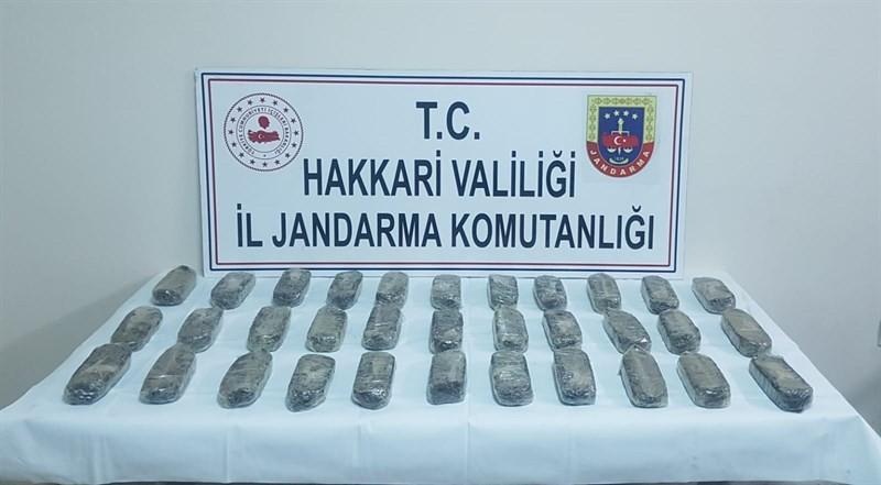 Yüksekova'da 15 kilo eroin ele geçirildi