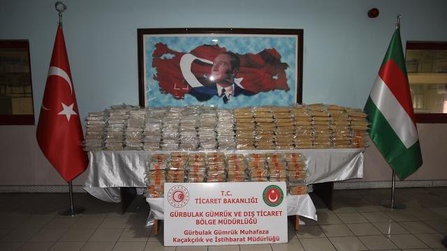 Gürbulak'ta rekor miktarda eroin ele geçirildi