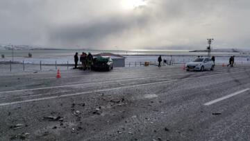 Van'da trafik kazası: 1 ölü, 2 yaralı