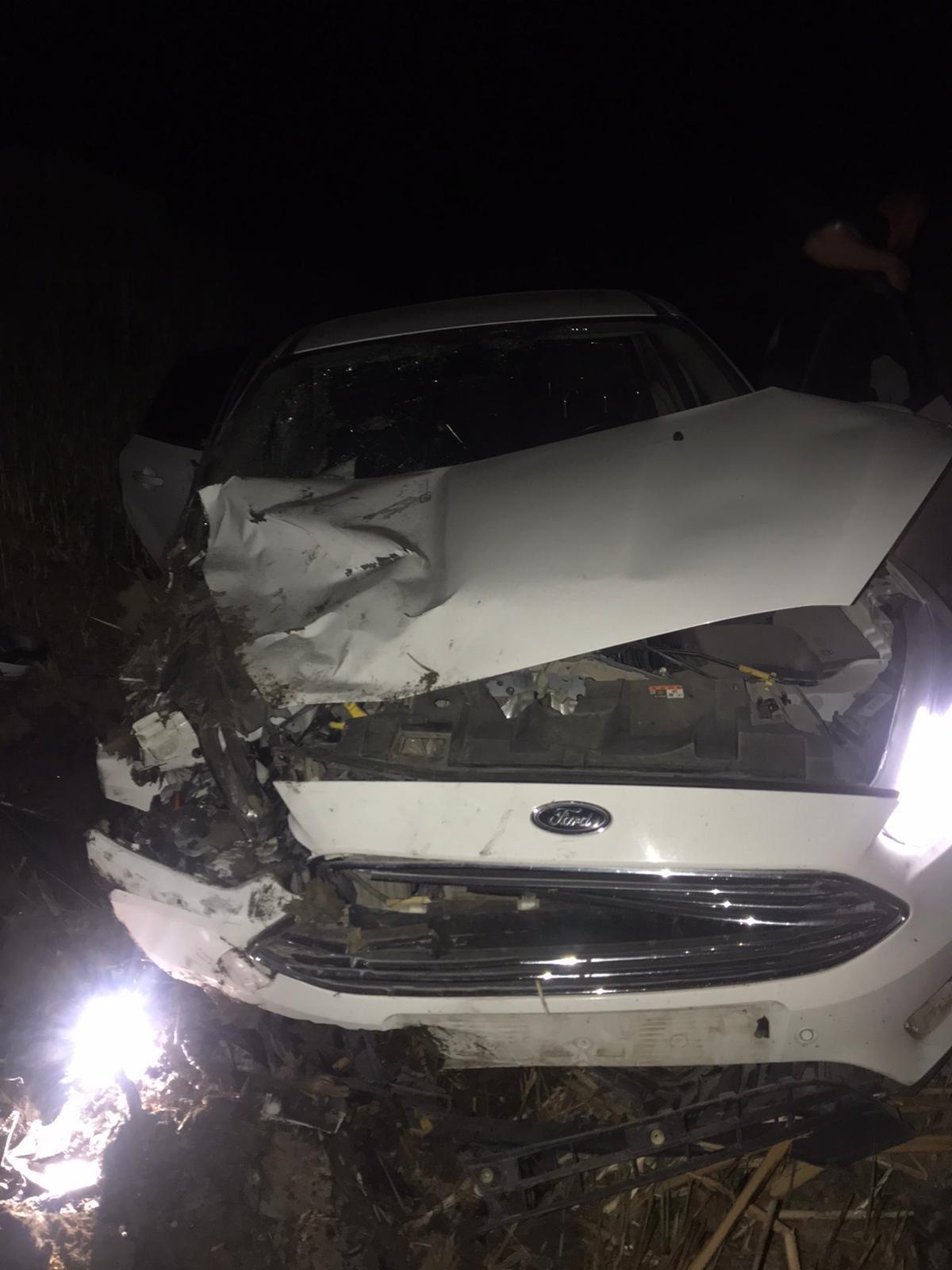 Iğdır'da dönüş yolunda olan filyasyon ekibi kaza yaptı 3 yaralı