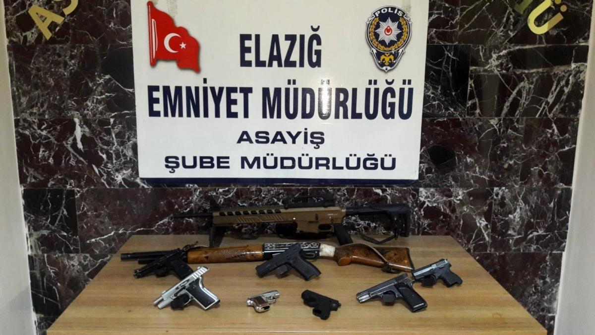 Elazığ da şok ve asayiş uygulamalarında yakalanan 35 şüpheli tutuklandı