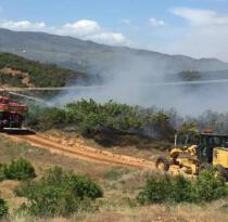 Bingöl Genç ilçesinde çıkan yangın kontrol altına alındı