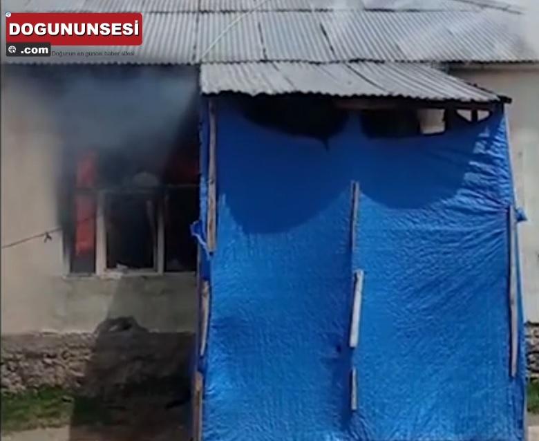 Van'da bir evde çıkan yangında maddi hasar oluştu