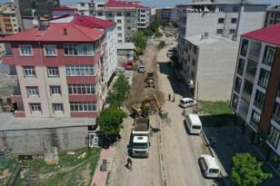 Iğdır'da alt yapısı tamamlanan yerlerde sıcak asfalt çalışması başlıyor