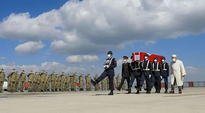 Ağrı Doğubeyazıt'ta Eren-15 Operasyonunda şehit olan J.U.Çvş. Hüseyin Keleş'in cenazesi Ankara'ya gönderildi