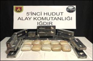 Iğdır'da yapılan operasyonda kaçak sigara ve uyuşturucu ele geçirildi