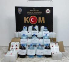 Kars'ta polisler damacanalarda su yerine sahte içki buldu