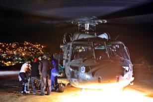 Kazada kolu kopan kişi askeri helikopterle Elazığ Fırat Üniversitesi Hastanesi'ne sevk edildi