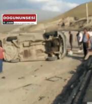 Iğdır Doğubayazıt yolunda kaza, kepçeye arkadan çarptı: 4 Yaralı